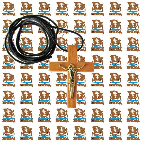 Нательный деревянный крестик Image